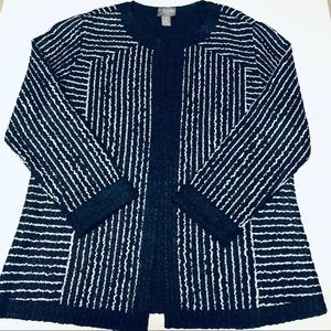 Chico's Travelers Collection Open Cardigan Size 1